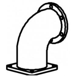 Abgasrohr, Krümmerstutzen MAN TGA Dinex 47187, OE-Nummer: 81.15204.0452